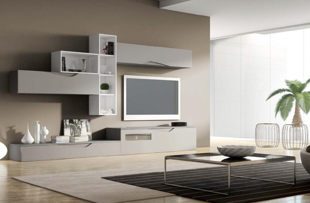 Salones minimalistas en colores relajantes en fontana - Muebles de colores pintados ...