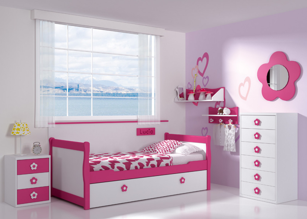 Muebles en madera camas para ni as - Camas para nina ...