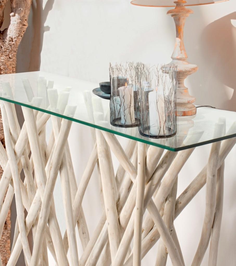 Muebles auxiliares de madera a la deriva fontana mobiliario y decoraci n - Muebles de derribo ...